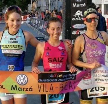 Yaiza Saiz y Celestino Fernández vencen en el Duatló Sprint Vila-real