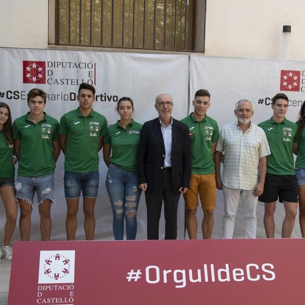 Diputación recibe a los atletas del Playas de Castellón