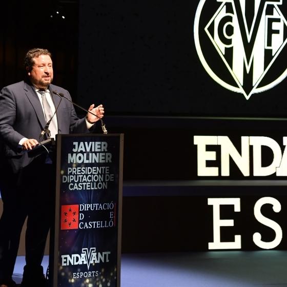 Moliner respalda la promoción deportiva del Villarreal C.F. en la Gala Endavant Esports
