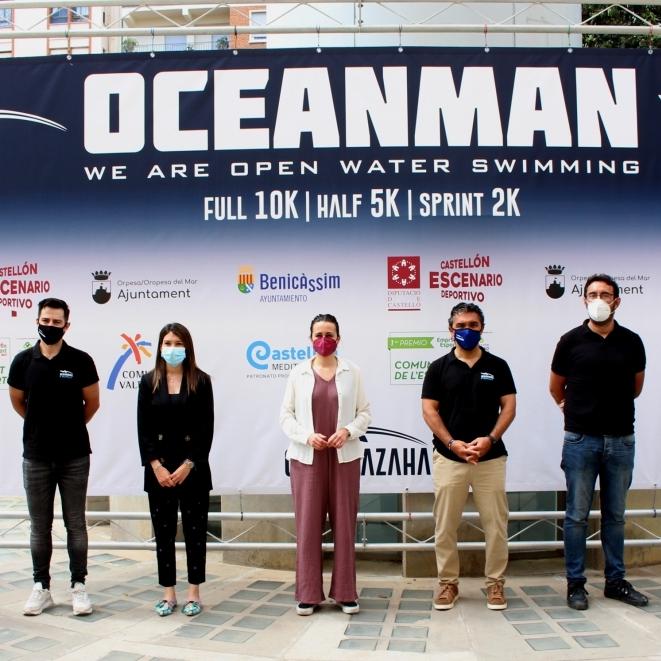 Tania Baños destaca el esfuerzo de la organización del Oceanman Costa Azahar por crear un espacio seguro para el deporte